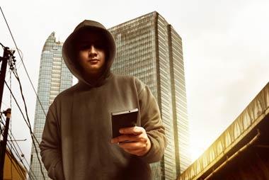 携帯電話を使う闇金